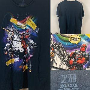 Deadpool T-shirt Unicorn Máximum Effort Graphic T